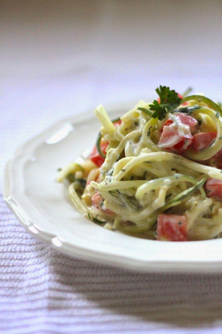 Jenessa's Dinners: Raw Zucchini Salad with Tzatziki