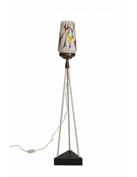 Retro Vloerlamp, vrolijke kleuren - Lamplord