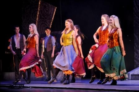For two decades now the costumes of Riverdance have trekked a well-worn path using the same tailors, embroiderers and craftspeople.
