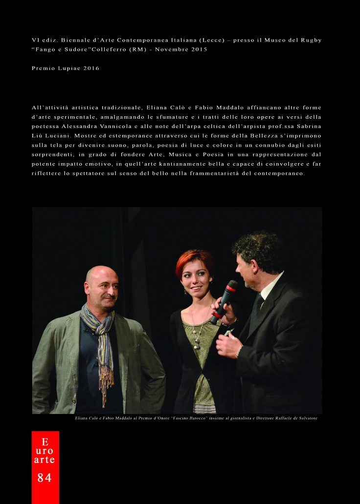 Eliana Calò - Pubblicazione su Rivista EuroArte Set-Ott - Nov 2016 (Pag.4)