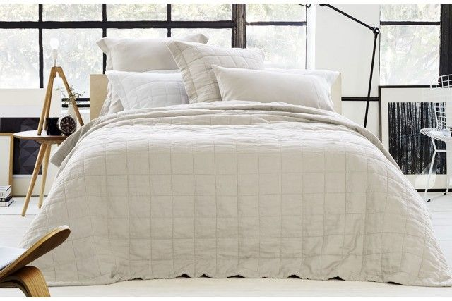 Love the simple linen quilt cover. Abbotson Bedcover - Sheridan