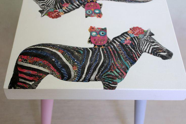 Stool/chair - hand decorated by Rekoko. Visit: www.rekoko.pl https://www.facebook.com/justynamagierrekoko/