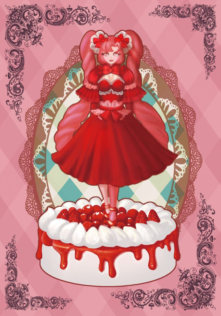 Cherry Girl, Ryung-A Kim on ArtStation at https://www.artstation.com/artwork/X3yPD