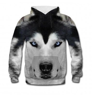 The blue eyes of an arctic wolf are said to paralyse its prey. Does your body feel tense? We could barely move when we were designing this jumper, it's so realistic. Be the alpha in your pack. Get it today. www.bittersweetclth.com