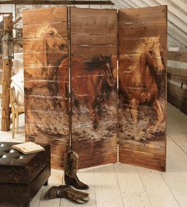 Horse Room Screen or any other design make it wit pallets!  Great idea vs paying $1,899.95