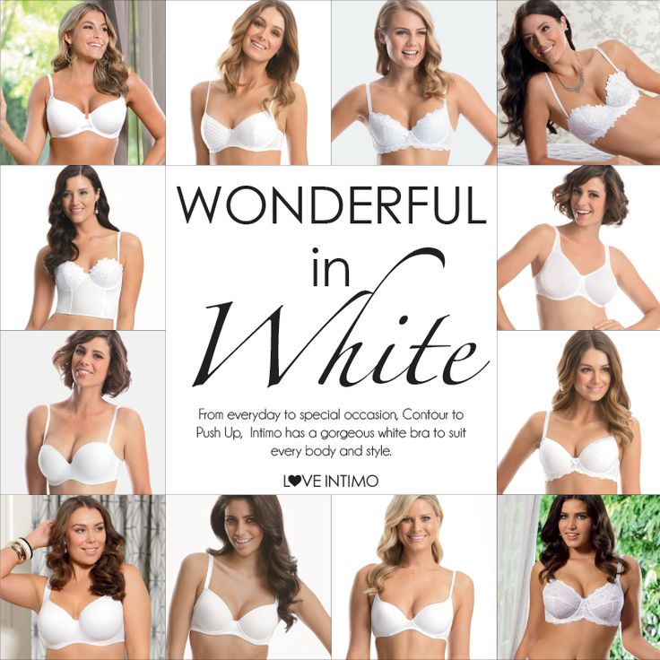 Push Up, Contour, Support & Convertible: whatever your favourite, Intimo has a beautiful white bra for every shape and style! Contact your Stylist to update your wardrobe today! www.intimo.com.au