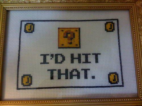 mario cross stitch | Hit That Mario Cross Stitch — A video game inspired craft ...