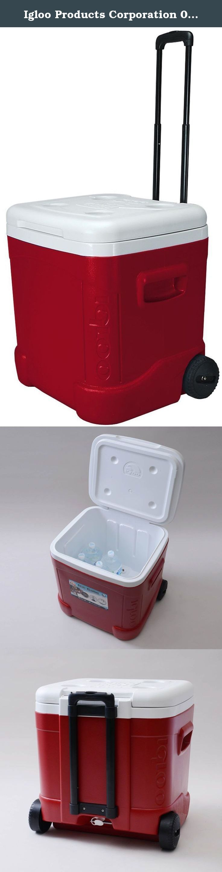 Igloo Products Corporation 00045688 Ice Cube Roller Cooler, 60 quart, Red. The first cube-shaped cooler on the market - now on wheels! It's ergonomically easier to lift and carry, because your arms are held closer to your body. Ideal size for food and drinks for friends, family, team sports, tailgating or other group events.