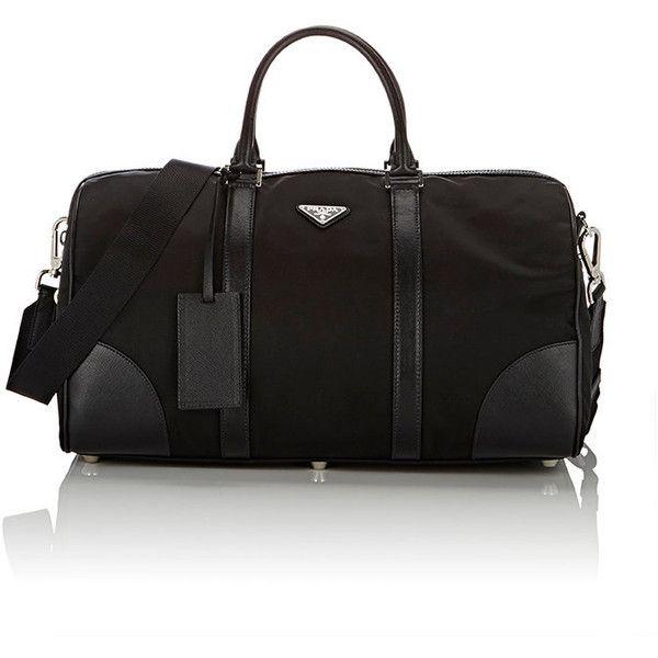 Prada Men's Duffel Bag (6,710 SAR) ❤ liked on Polyvore featuring men's fashion, men's bags, black, mens duffle bags, men's duffel bags, mens bags and prada mens bag
