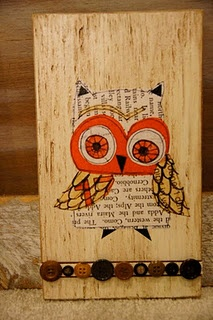DIY owl art.