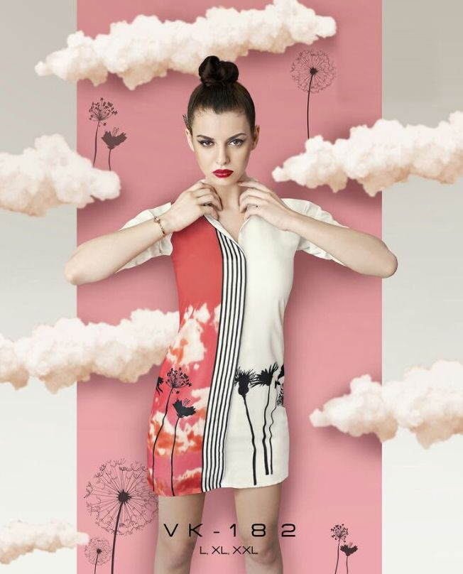 Summer Special Modern Stylish Peach & White Kurtis Fashion for Women
