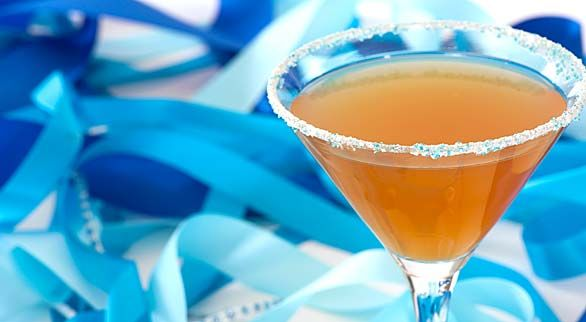 Wedding Cake Martini  Ingredients  1 1/2 oz amaretto  2 oz orange or pineapple juice  1/2 oz vanilla vodka  ice & a cocktail shaker  for rimming the glass  3 tbsp vanilla sugar  2 tbsp colored sugar     Directions  1Combine ingredients and ice in a cocktail shaker.  2Shake briefly but vigorously.  3Strain into a martini glass.  4Instructions for rimming glasses: moisten rims of martini glasses with a little orange or pineapple juice. Gently shake off any excess and immediately dip into the…