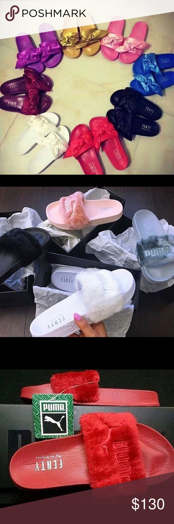 Rihanna puma slides rihanna puma slides all brand new no traded no lower offers all sizes Puma Shoes Sandals