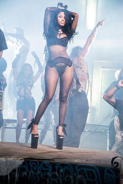 Nicki Minaj on set of 'Only' music video (3)
