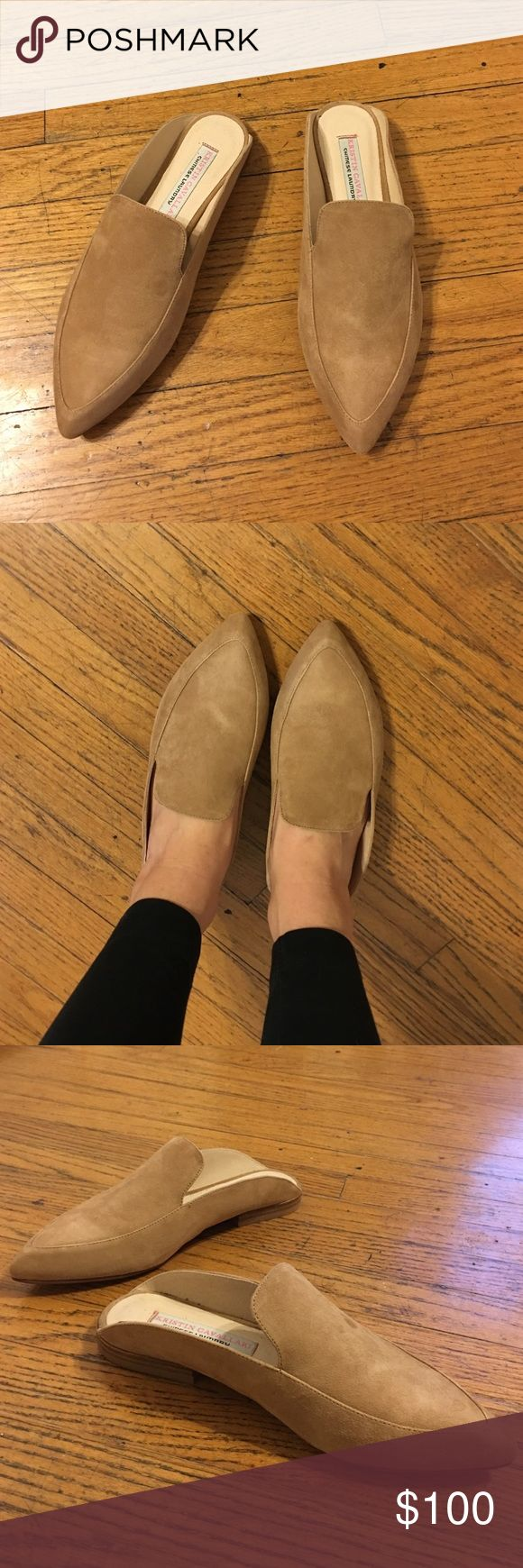 Chinese Laundry Kristin Cavallari Suede Mules - 7 Chinese Laundry Kristin Cavallari Suede Mules. Size 7. Tan color. Brand new never used. Chinese Laundry Shoes Flats & Loafers