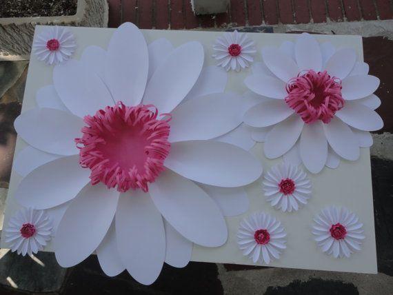 Papel grande Daisy papel Extra grande flor foto Prop telón de fondo Nursery Decor