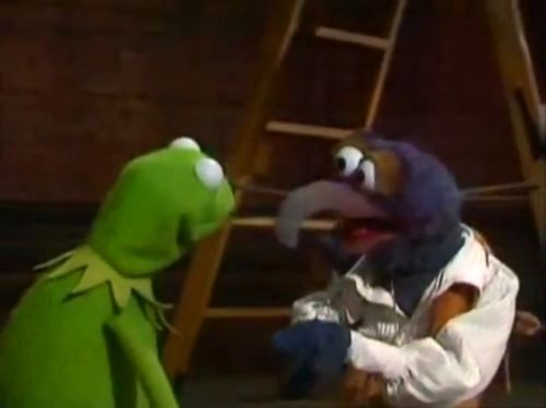"""Kermit: """"Gonzo? Are you okay, Gonzo? It's just a song."""" Gonzo: """"I know. It's not the song, I just don't wanna go."""" Kermit: """"But you're going to go out and make movies."""" Gonzo: """"I wanna go there, I just don't wanna leave here…"""""""