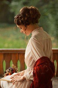 Elena Alferova HISTORICAL WOMAN READING ON TERRACE