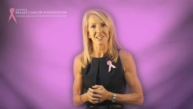 National Breast Cancer Foundation ambassador and former Olympian Jane Flemming thanks the foundation for 20 years of providing funding for the prevention and cure of breast cancer.