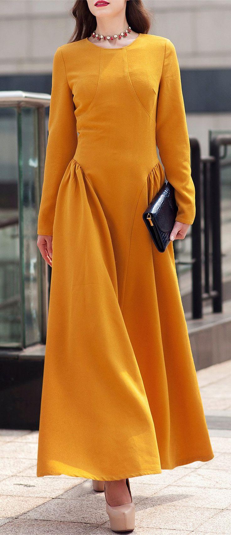 Long Sleeve Formal Dress