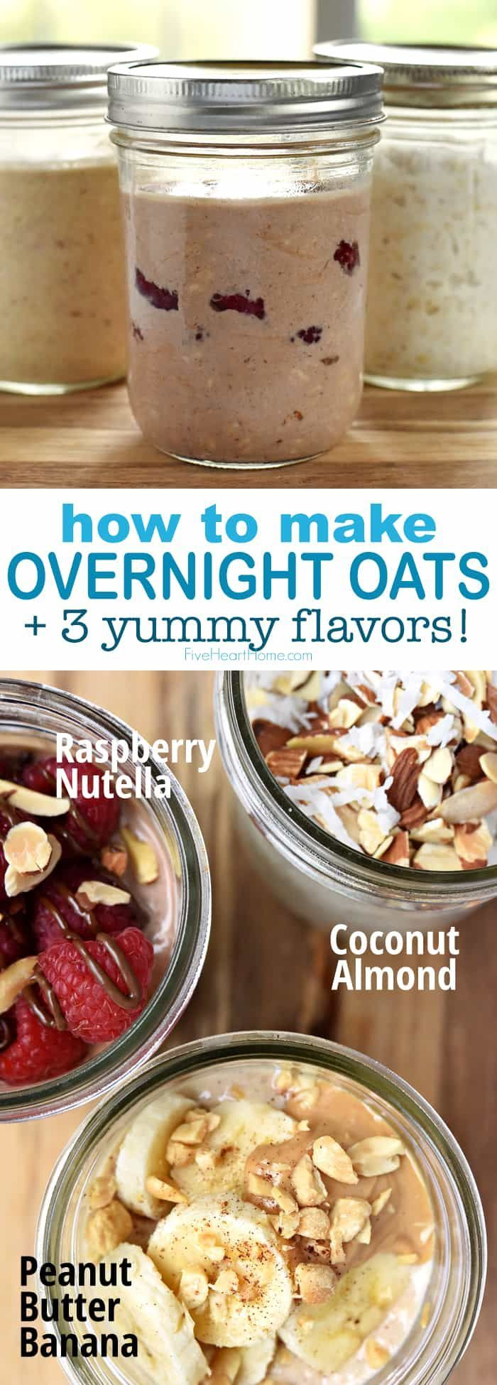 easy healthy overnight oats perfect for an instant no cook breakfast this overnight oats with on hebbar s kitchen recipes oats id=56049