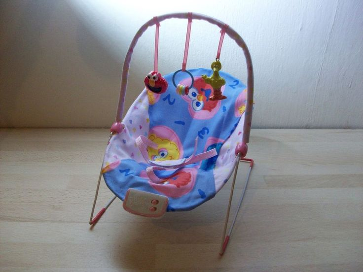 handmade ooak bouncy chair for 5 - 7 1/2   ooak baby dolls (sesame st/elmo)