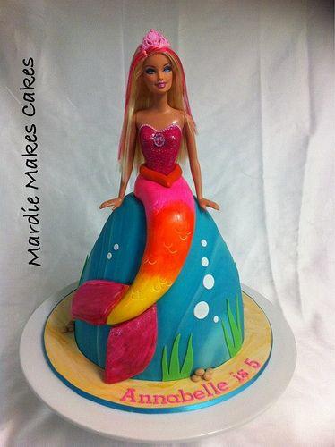 Barbie Mermaid Cake  www.facebook.com/MardieMakesCakes
