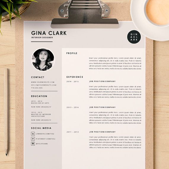 Best Resume Design Images On   Cv Design Resume Cv
