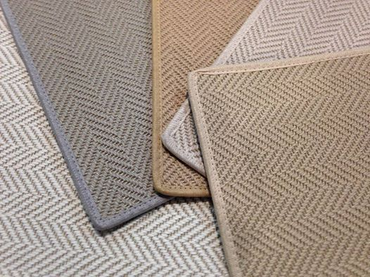 Classic chevron herringbone pattern made of wool jute for Wool carpet wall to wall