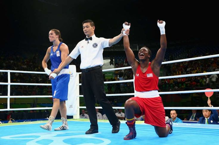 Claressa Shields repeats gold in women's boxing:  August 21, 2016   -      Claressa Maria Shields of the United States celebrates victory over Nouchka Fontijn of the Netherlands in the Women's Middle (69-75kg) Final Bout on Day 16 of the Rio 2016 Olympic Games at Riocentro - Pavilion 6 on August 21, 2016 in Rio de Janeiro, Brazil.