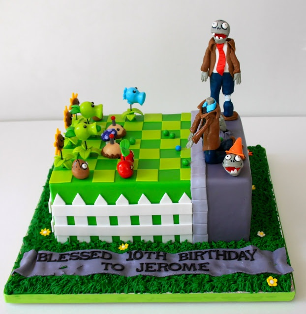 38 best Cakes Plants vs Zombies images on Pinterest Plants vs