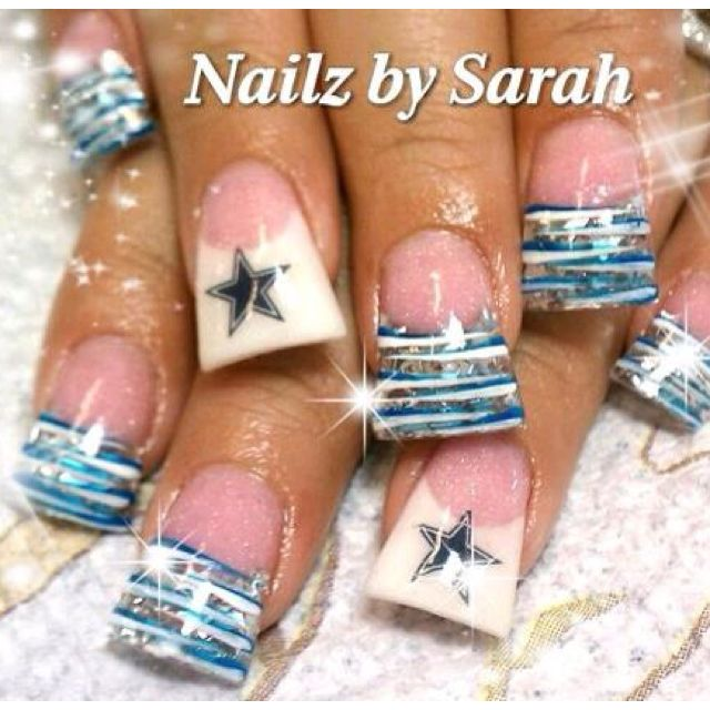 Best 25 cowboy nails ideas on pinterest dallas cowboys nails once football starts back up ill get these and represent my team only not the cowboyse chargers prinsesfo Choice Image