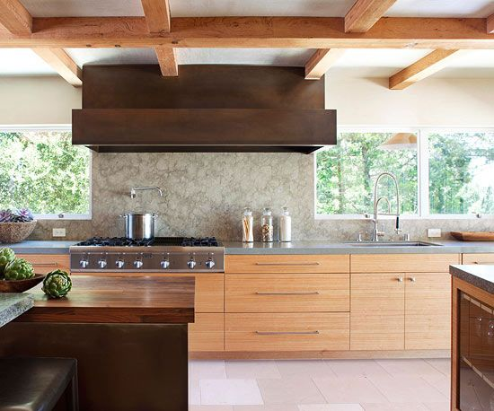 Best 25 contemporary kitchens ideas on pinterest for Modern wood kitchen cabinets