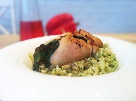 Lillians Matblogg: Kylling med mascarpone, spinat og persillepesto