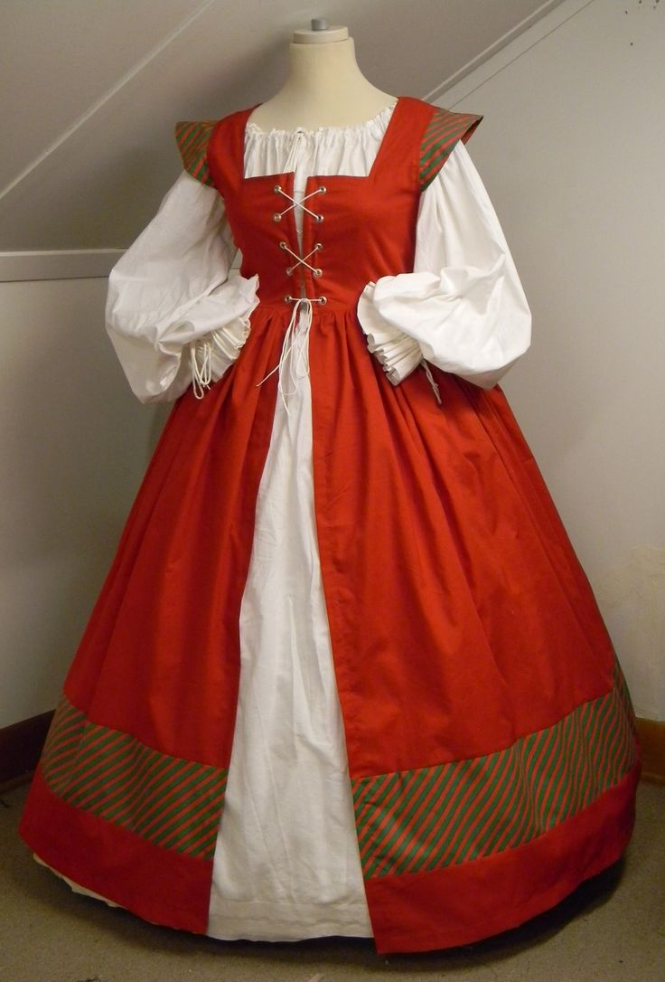 Christmas Mrs. Santa Clause dress. Just add accessorizes.