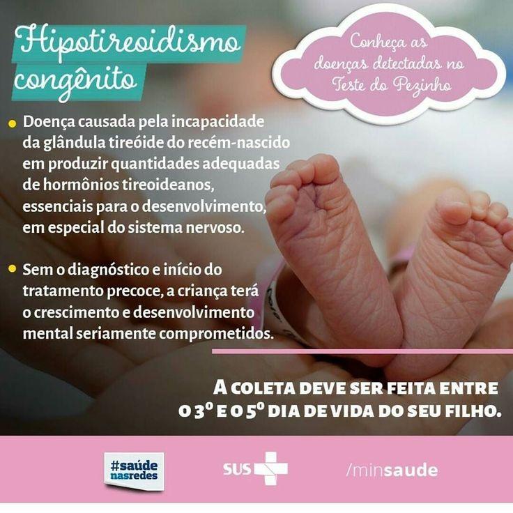 Mamães e papais olha essa informação do @minsaude que importante!! Mais uma doença que pode ser detectada ao fazer o teste do pezinho!! . . #Deusnocomando #paramamaesebebes #babyplanner #testedopezinho #prevencaodedoencas #maternidade #papai #mamae #bebe #baby #gestante #gravida #pregnant #assessoriamaterna #importados #importadosparabebe #maternidade #mommy #instamommy #instababy #love #amoquefaco