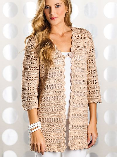 Crocheted cardigan- I think it would be nice in black
