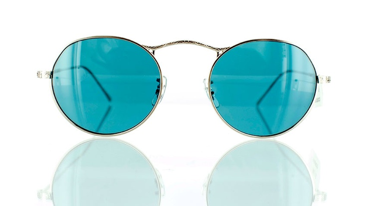"""Oliver Peoples M-4 : Designer round sunglasses - find this Great """"Glassby"""" look at Goo Goo Eyes 
