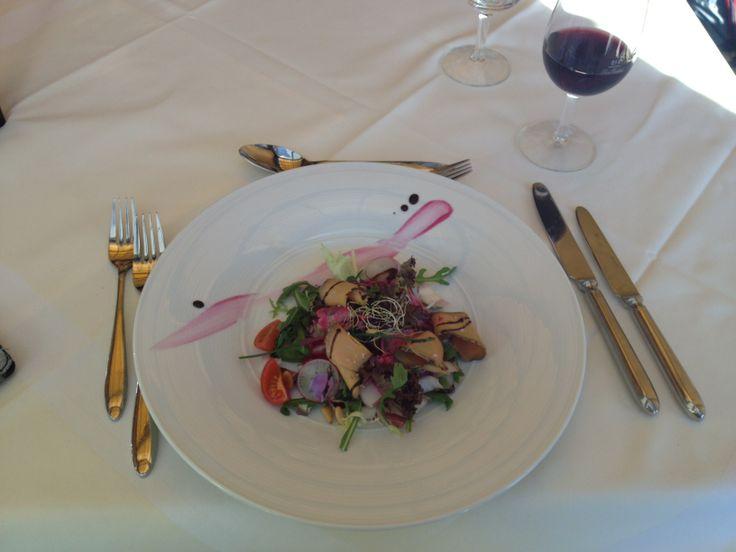 Saladine de foie gras à l'Hôtel Cailler de Charmey