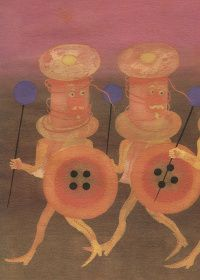 Button Tales  Illustrations by Eva Bednářová for Button Tales (Knoflíková Pohádká) by Olga Hejná (Albatross, Prague, 1974)