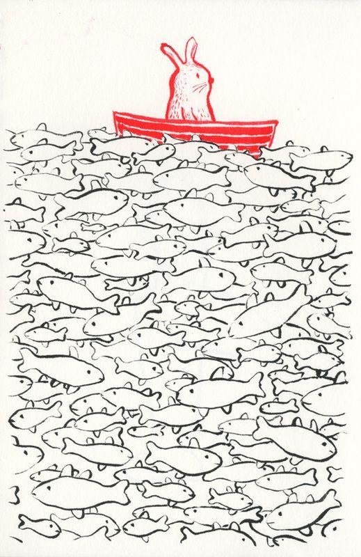 de reis van het witte konijn - Martijn van der Linden - ILLUSTRATOR