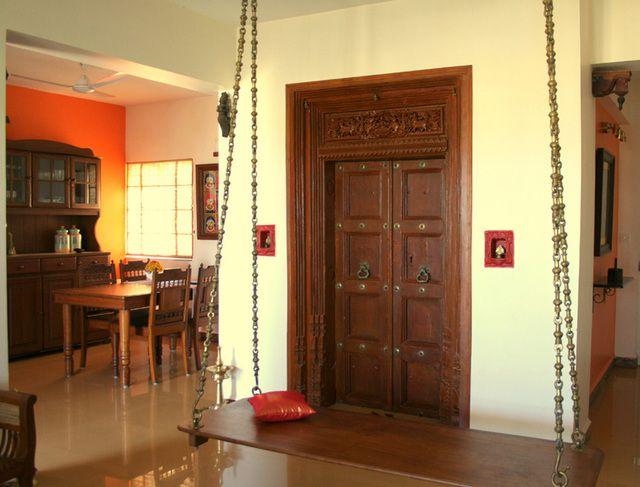 House tour archana 39 s eastern sun bangalore swings for Ethnic indian home designs