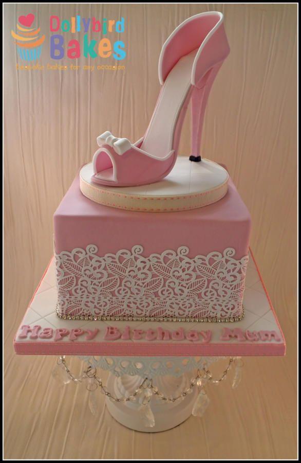 A girls best friend... shoe cake #dollybirdbakes