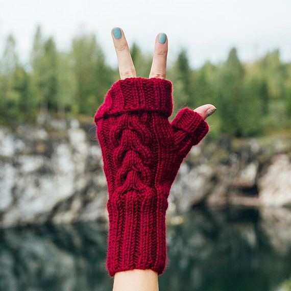 Knitted winter Gloves Women's Mittens Fingerless Gloves
