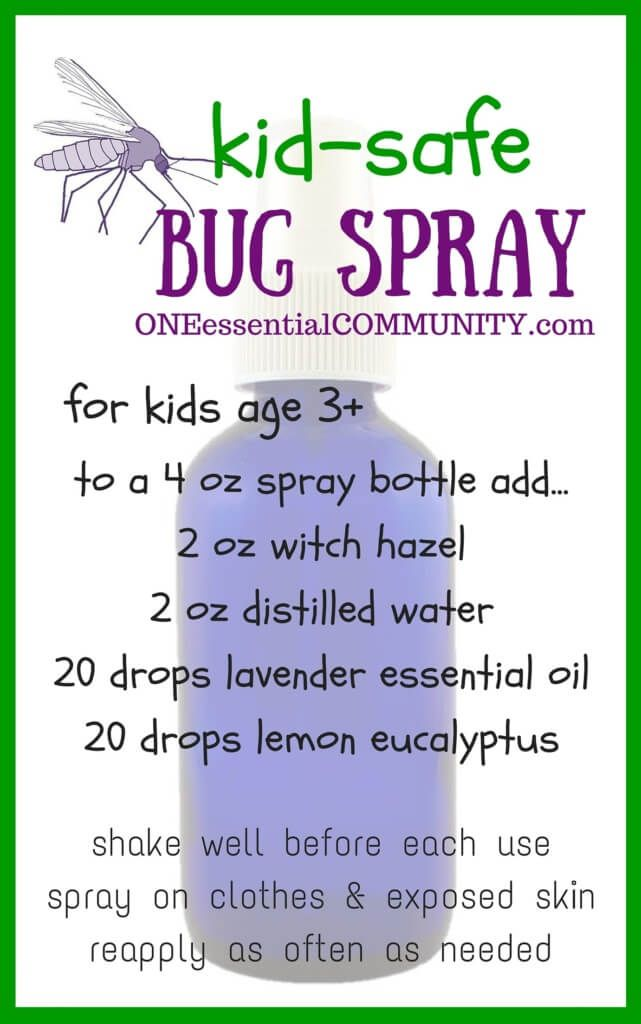 Have you seen this kid-safe bug spray?  Love it!!  it's keeps away mosquitoes, flies, gnats, and ticks, AND it's deet-free!!   It's made with lemon eucalyptus essential oil, which the CDC (Center for Disease Control) recommends as an effective mosquito repellent!!  love my essential oils!