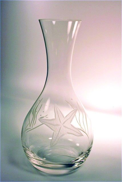 Starfish Design Carafe - these are so pretty in person!