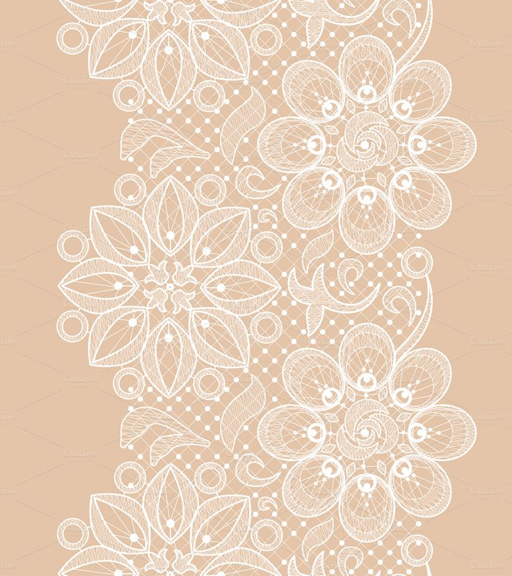 Seamless lace patterns by Macrovector on Creative Market                                                                                                                                                                                 More