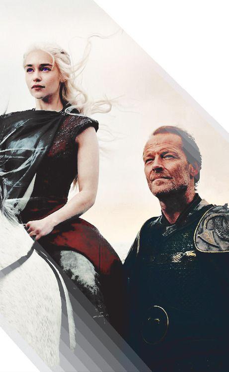 Daenerys Targaryen and Jorah Mormont ~ Game of Thrones Fan Art