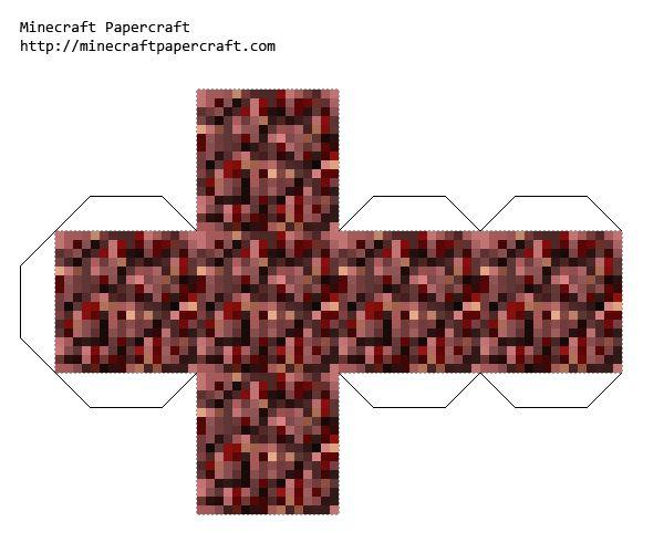 Minecraft Nether Rack Printable Papercraft Printables