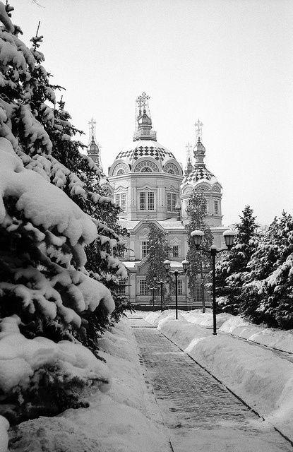 Almaty Kazakhstan in the winter. by boo ☆   WHI